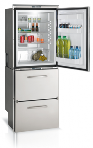 Vitrifrigo DW360 10.6 cu. ft. Stainless Steel Refrigerator, 2 Drawer Freezer with Ice Maker/Refrigerator